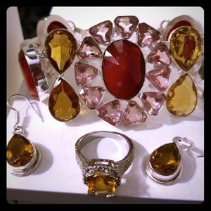 Jewelry - (NWT) 925 Multi-color Bracelet Set